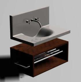 Lavabo Minimalista 3d En Max Descargar Cad 506 Kb Bibliocad - Lavabos-minimalistas