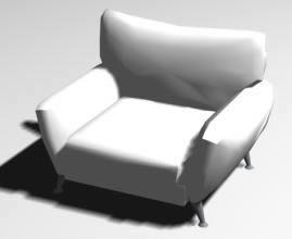 Merveilleux Individual Sofa 3d