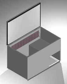 cajón para pelco de refrigeración 3d