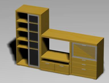 Mueble de salón 3d