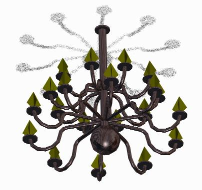 3D Lamp chandelier
