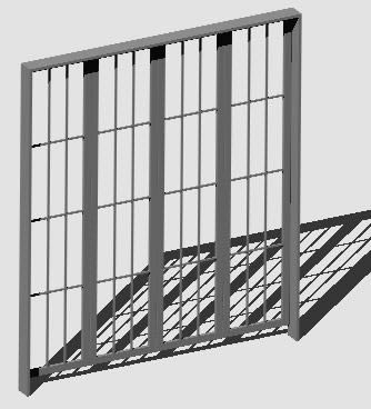 Metalic latice Door 3d