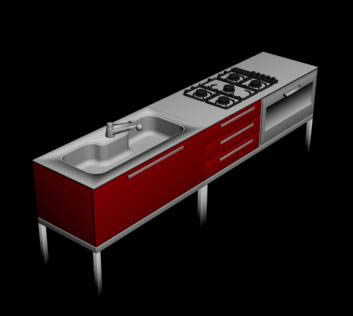 Mueble de cocina 3d