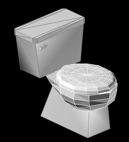 3d toilet in autocad download cad free kb for Inodoro dwg