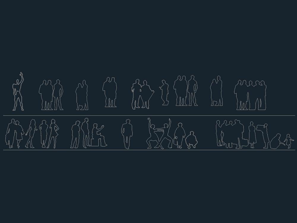 People - Outline Drawings