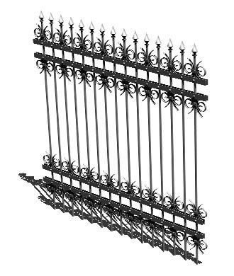 3d forged iron Grates