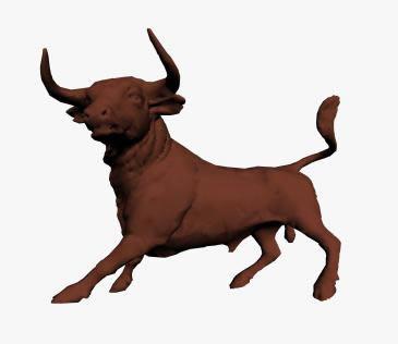 3d Bull Sculpture