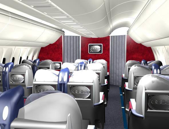 3d Airplane Cabin -  B767-300