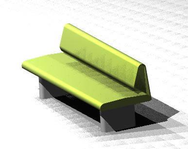 Armchair 3d - Squares Equipment