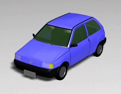 3d Car - Fiat