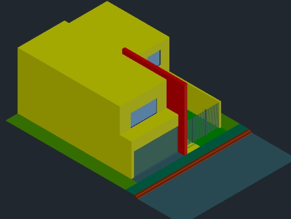 Casa 3d en autocad descargar cad gratis kb for Simulador de casas 3d gratis