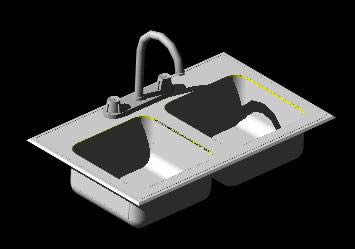 3d Kitchen Sink In Autocad Download Cad Free 182 5 Kb