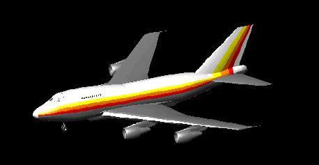 3d Boing 747-sp