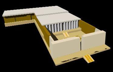 Templo de seti I en abidos1 3d