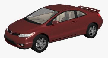 3d Honda Civic  Car