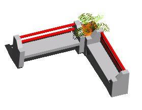 3d garden Concrete benches