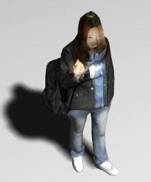 Mujer caminando 3d