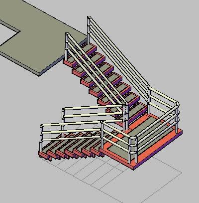 Escaleras 3d En Autocad Descargar Cad Kb