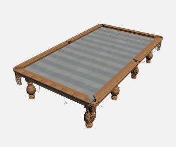 mesa de billar 3d
