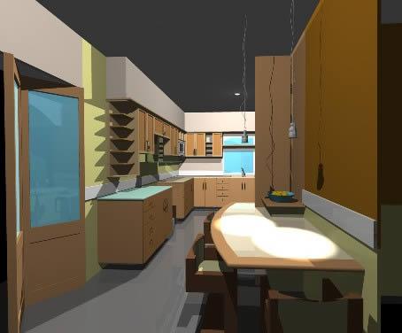 Cocina Equipada 3d