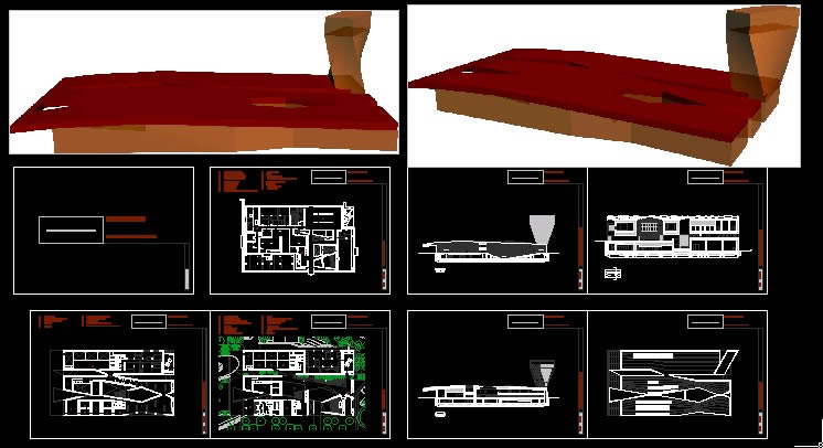 Young Museum In Autocad Cad Download 1 26 Mb Bibliocad