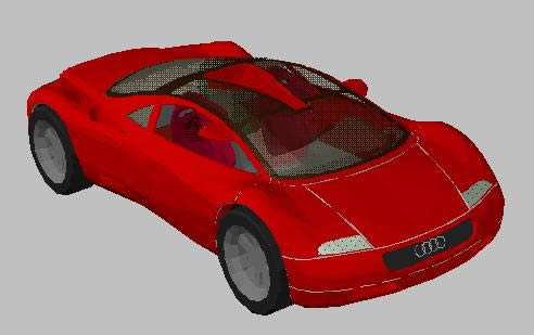 3d Audi Car In Autocad Cad Download 424 96 Kb Bibliocad