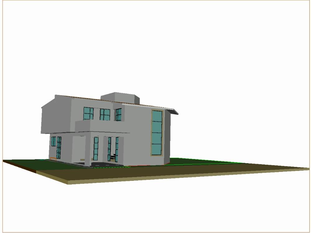 Vivienda doble altura 3d en autocad descargar cad gratis - Autocad home design software free download ...