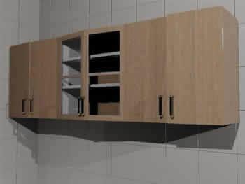 Mueble alto cocina 3d en MAX | Descargar CAD (425.63 KB) | Bibliocad