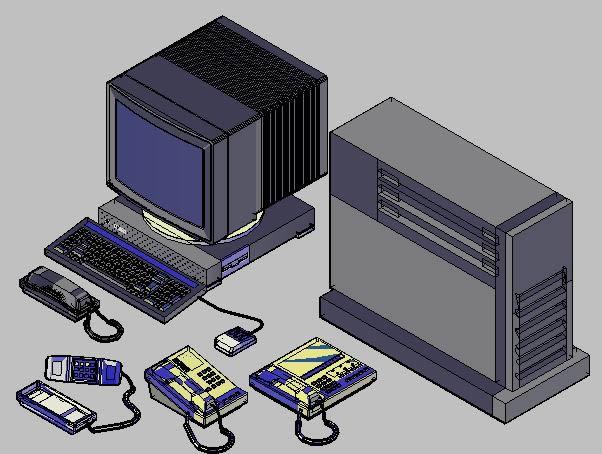 Auto Cad Blocks In 3d Office Apparatus 5353 Kb Bibliocad
