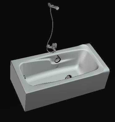 bath tub in autocad | download cad free (197.68 kb) | bibliocad