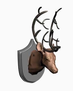 Deer head 3d