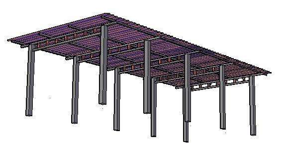 shed for garage  parking  in autocad
