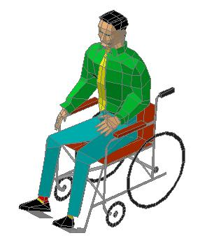 Person in wheelchair 3D