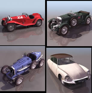 Old cars 3d