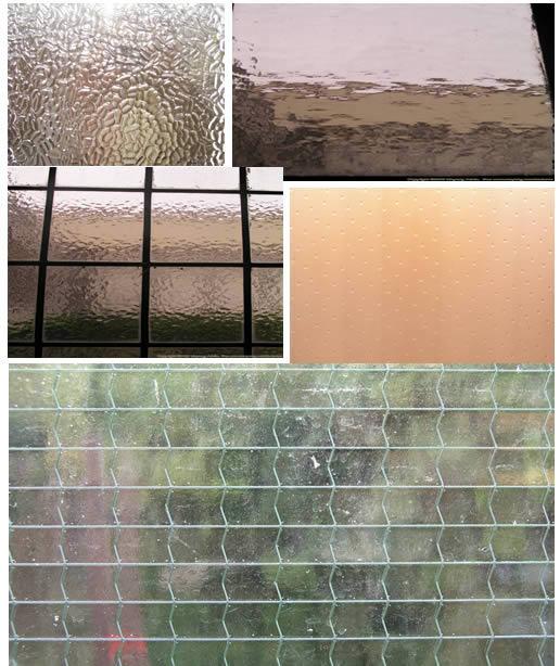 texturas de vidrios