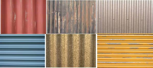 Texturas de metal de techo