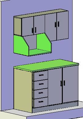 ▷ Mueble de cocina 3d en AutoCAD | Descargar CAD gratis (116.94 KB ...