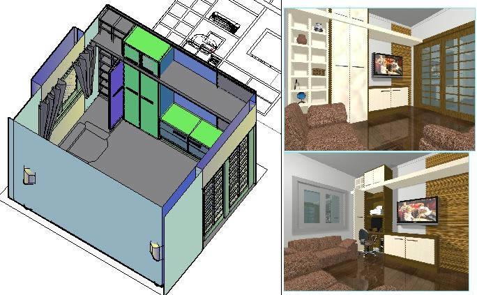 Living room 3d in AutoCAD | CAD download (1 75 MB) | Bibliocad