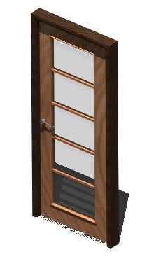 Interior door single - 3d