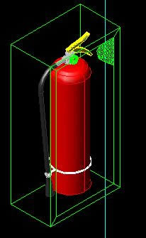 Fire Extinguisher Dry Powder Chemical in 3d