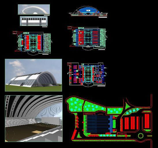Sports Complex In Autocad Cad Download 2 12 Mb Bibliocad