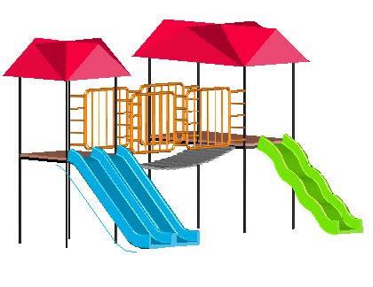 Juego Para Parque Recreativo En Autocad Cad 14647 Kb Bibliocad