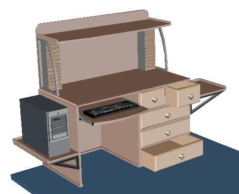 Mesa Pc 3d En Autocad Descargar Cad Kb Bibliocad
