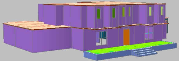 Residence 2 levels in 3d