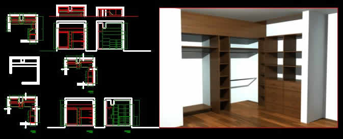 Walking Closet In Autocad Download Cad Free 770 54 Kb