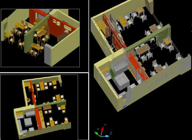 Restaurant Mochica 3d In Autocad Download Cad Free 1 69