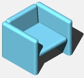 SILLON 1 PLAZA EN 3D