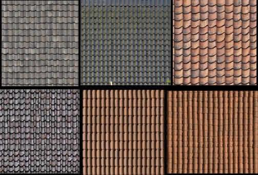 textura de tejas