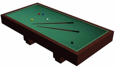Billiards table 3d