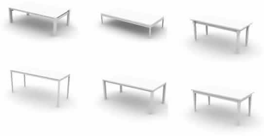 Archmodel 01- 17 models of tables